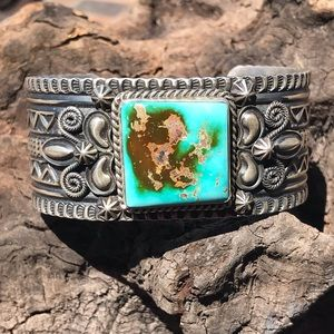 Jewelry - Stunning Sterling Silver Royston Turquoise Cuff